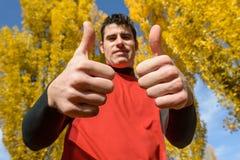 Riuscito uomo di sport Fotografia Stock