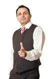 Riuscito uomo indiano di affari Fotografie Stock
