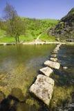 德贝郡地区英国国家公园峰顶riv谷 免版税库存照片