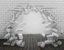 Riv ner en tolkning för vägg 3d Arkivfoton