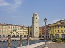 Riva στη βόρεια ακτή της λίμνης Garda Στοκ Εικόνα