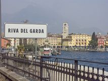 Riva στη βόρεια ακτή της λίμνης Garda Στοκ Φωτογραφίες