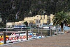 Riva на озере Garda (Италия) Стоковые Фото