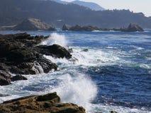 Riva californiana dell'oceano Fotografie Stock
