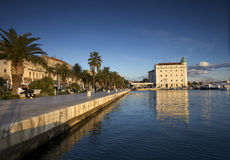 Riva of the city of Split Stock Photography