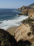 Riva costiera della strada principale 1 in CA Fotografie Stock Libere da Diritti