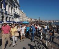 Riva degli Schiavoni在威尼斯 免版税图库摄影