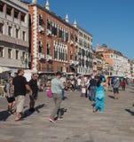 Riva degli Schiavoni i Venedig Royaltyfria Foton