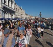 Riva degli Schiavoni i Venedig Arkivbild