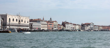 Riva degli Schiavoni. The Riva degli Schiavoni is a monumental edge of the city of Venice. It is located in the district of Castello Stock Photo