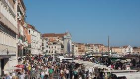 Riva degli Schiavoni in Venice Royalty Free Stock Photography