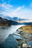 Riva del fiume Fotografia Stock