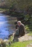 Riva del fiume Immagini Stock