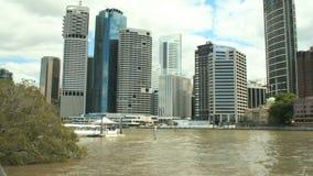 Riva del fiume Brisbane Timelapse video d archivio