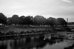 Riva del fiume in Connecticut Fotografia Stock Libera da Diritti