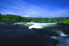 Riva del fiume crepuscolare Fotografie Stock