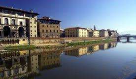 Riva del fiume del Arno - di Firenze immagine stock libera da diritti