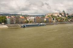 riva del fiume di Budapest Immagine Stock Libera da Diritti