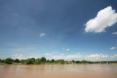 Riva del fiume di Chao Phraya Fotografie Stock
