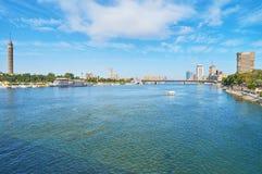 Riva del fiume di Il Cairo, Egitto Immagini Stock Libere da Diritti