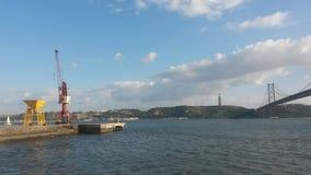 Riva del fiume di Lisbona Fotografia Stock