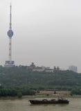 Riva del fiume di Yangtze nella città di Wuhan Immagini Stock