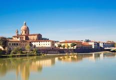 Riva del fiume a Florene Fotografie Stock