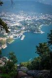 Riva del Garda, à partir de dessus Photographie stock libre de droits