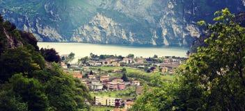 Riva del Garda. Aerial view over Riva del Garda royalty free stock photos