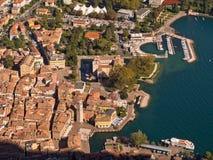 Riva del Garda Antenn sikt Arkivbild