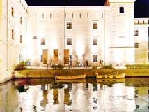 Riva Del Garda boardwalk by night - Italy Stock Images