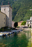 Riva del Garda city Stock Images