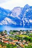 Riva Del Garda - Italia del Nord - verticale Fotografie Stock Libere da Diritti