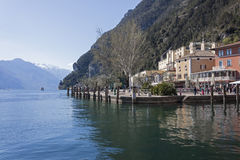 Riva del Garda on Lake Garda Stock Photos