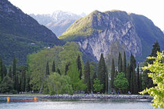 Riva del Garda lake, Italy Royalty Free Stock Image