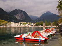 Riva del Garda Lakeside Holiday Resort Italy Stock Image
