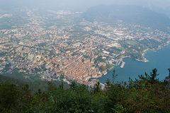 Riva Del Garda od wierzchołka, obraz stock