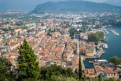 Riva Del Garda od wierzchołka, Fotografia Stock