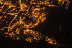 Riva del Garda på natt Fotografering för Bildbyråer