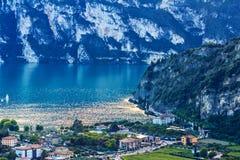 Riva del Garda Panorama Arkivbild