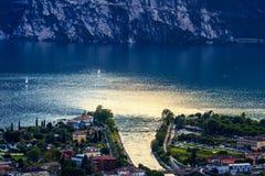 Riva del Garda panorama Stock Image