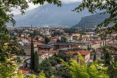 Riva del Garda Panorama. Panorama of Riva del Garda by the Lake Garda, Italy royalty free stock image