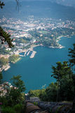 Riva del Garda, from top. Trentino Italy Royalty Free Stock Photography