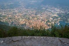 Riva del Garda, from top stock image