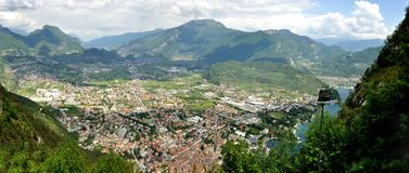Riva del Garda top view panorama stock photo