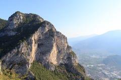 Riva del Garda town panorama at Lake Garda and mountains, Italy Stock Images