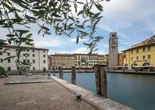 Riva del Garda. Trentino, Italy at Sunset Stock Photo