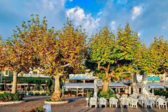 RIVA DEL GARDA, TRENTO/ITALY - 24 OKTOBER: Riva Del Garda op Th Royalty-vrije Stock Afbeeldingen