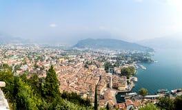 Riva del Garda, vanaf bovenkant royalty-vrije stock afbeelding
