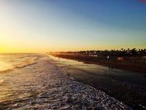 Riva del Huntington Beach Immagini Stock Libere da Diritti